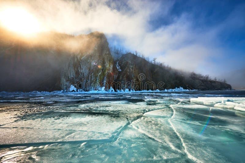 baikal jeziora zima zdjęcie stock