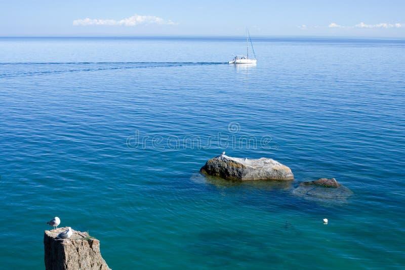 Download Baikal lake stock image. Image of horizon, siberian, rock - 8138311