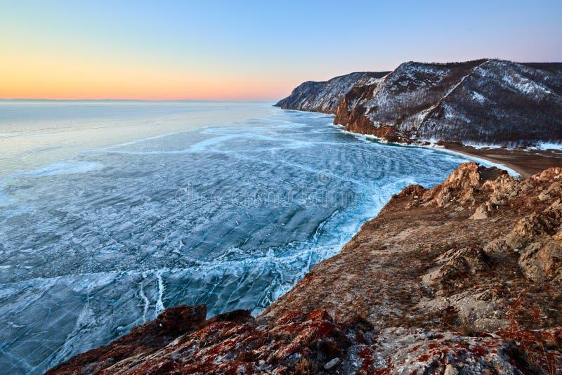 Baikal Lake in winter stock image