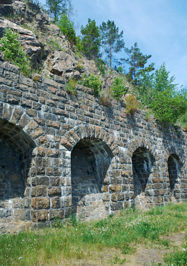 Baikal linia kolejowa obraz royalty free