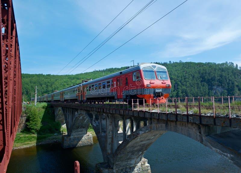 Baikal linia kolejowa zdjęcie stock