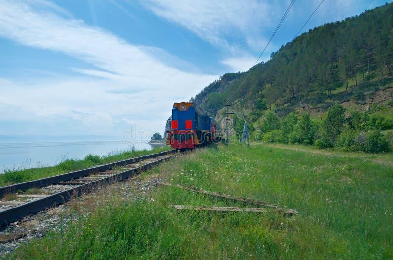 Baikal linia kolejowa zdjęcia royalty free