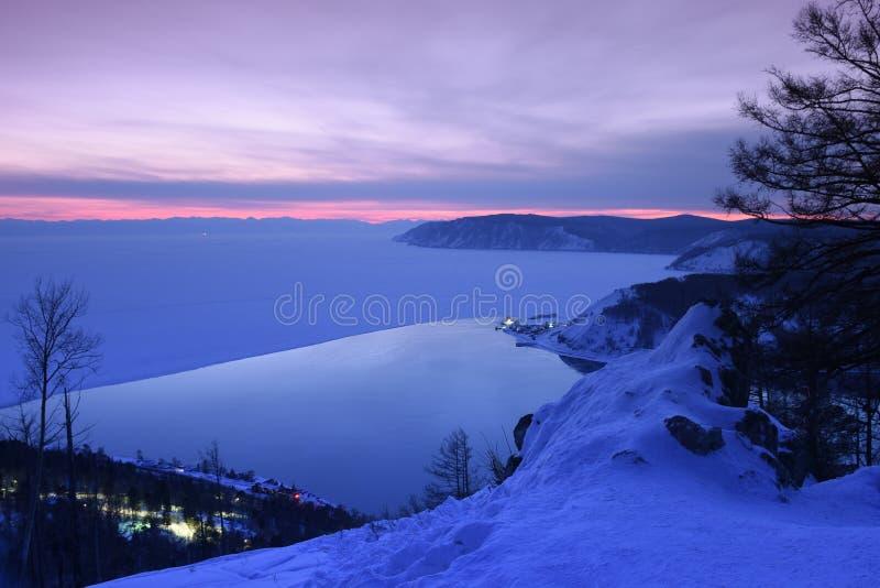Baikal nell'inverno Ghiaccio e natura di Baikal Febbraio 2018 fotografia stock libera da diritti