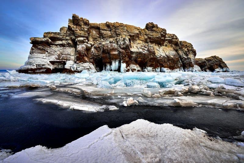 Baikal See im Winter lizenzfreie stockbilder