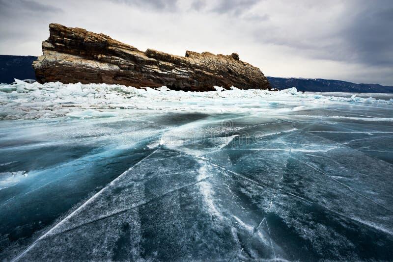 Baikal See im Winter stockfotografie