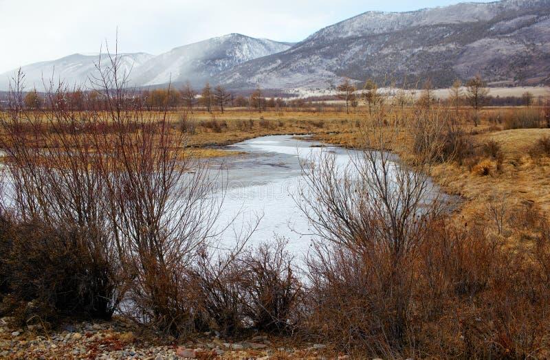 Baikal w zimie obraz royalty free