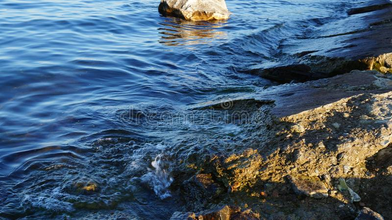 Baikal woda, wybrzeże, dajk obrazy royalty free