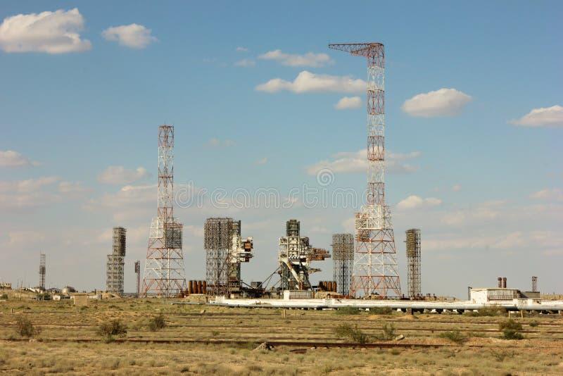 Baikonur Cosmodrome Buran kazachstan stock afbeelding