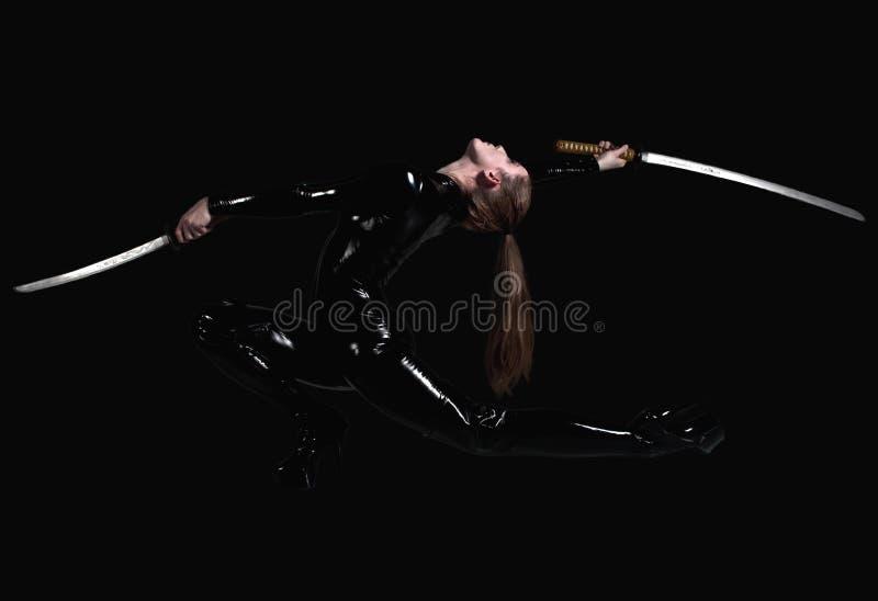 Bailado da espada das artes marciais fotos de stock