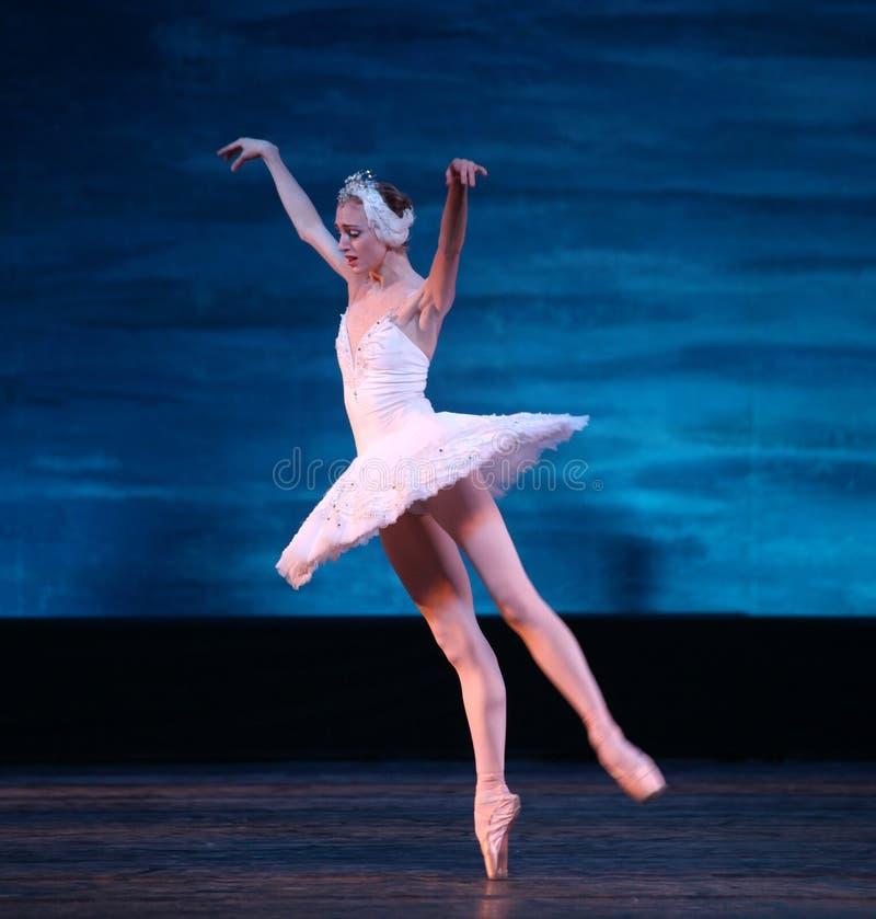 Bailado do lago swan executado pelo bailado de Russo Real foto de stock royalty free