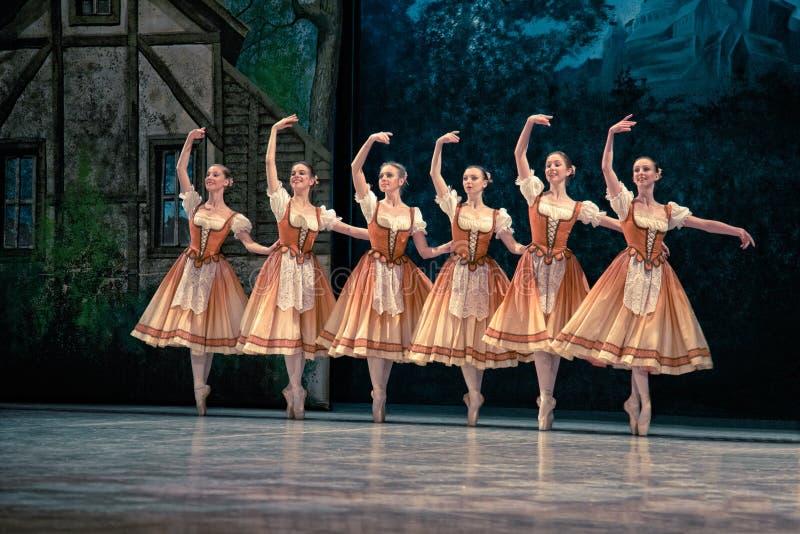 Bailado Giselle na ópera do estado de Praga foto de stock royalty free