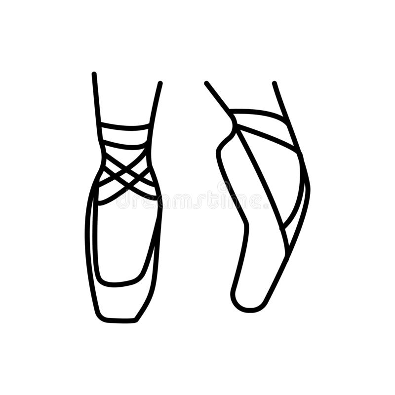 Bailado, pé ?cone da ilustra??o ilustração stock