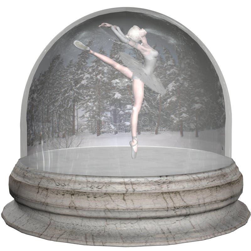 Bailado Snowglobe ilustração royalty free