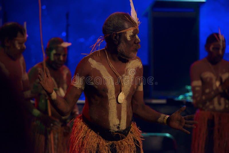 Bailarín aborigen imagen de archivo