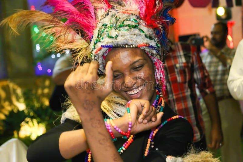 Bailarín africano fotografía de archivo