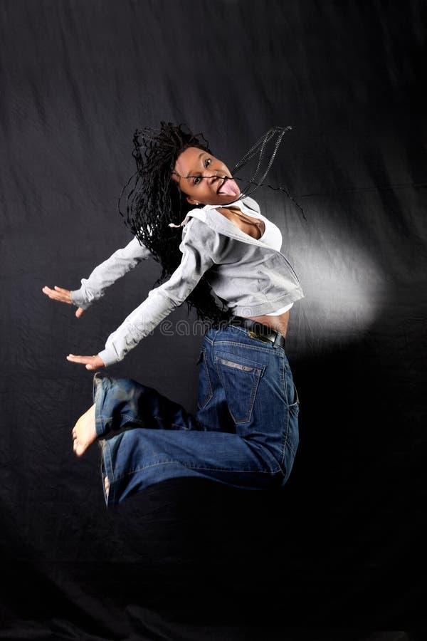 Bailarín afroamericano fotografía de archivo libre de regalías