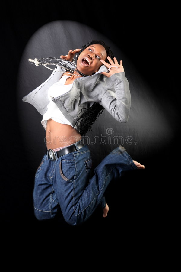 Bailarín afroamericano fotografía de archivo