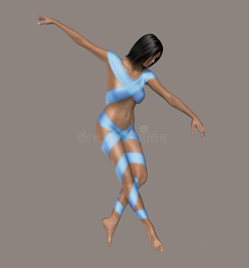 Bailarín atractivo ilustración del vector