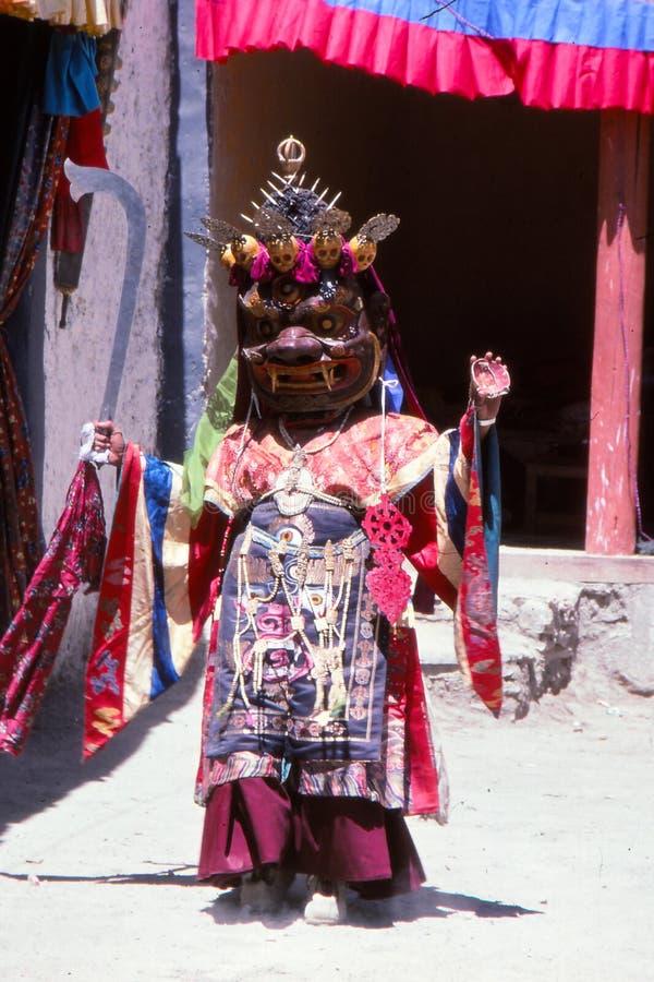 Bailarín budista de la máscara de Ladakh fotografía de archivo libre de regalías