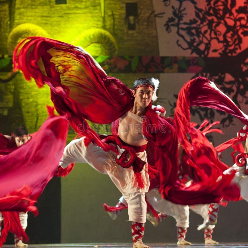 Bailarín chino del nacional de Qiang imágenes de archivo libres de regalías