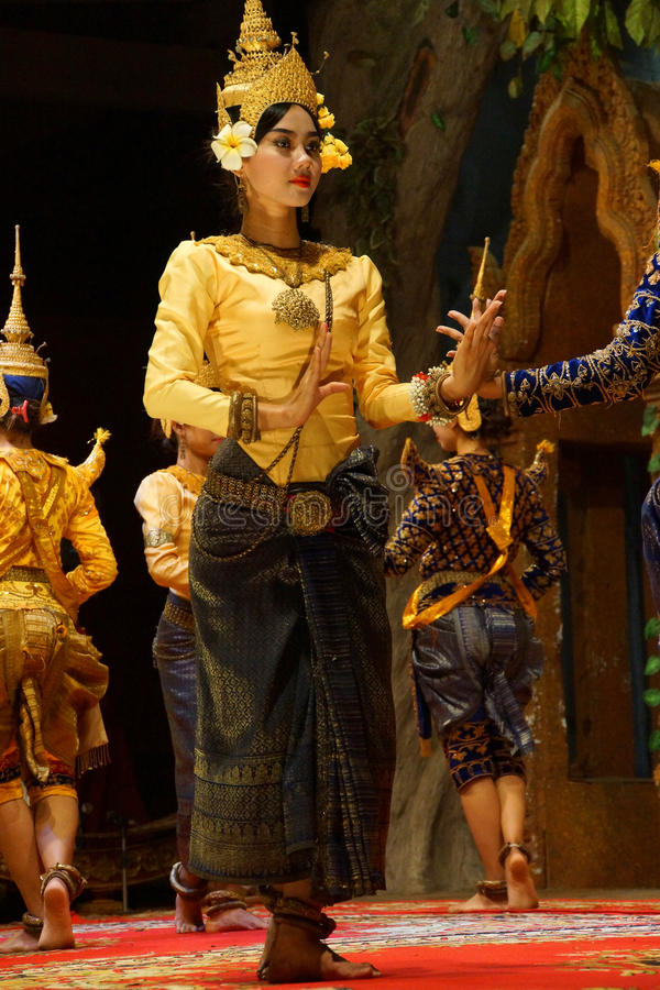 Bailarín de Apsara imagen de archivo