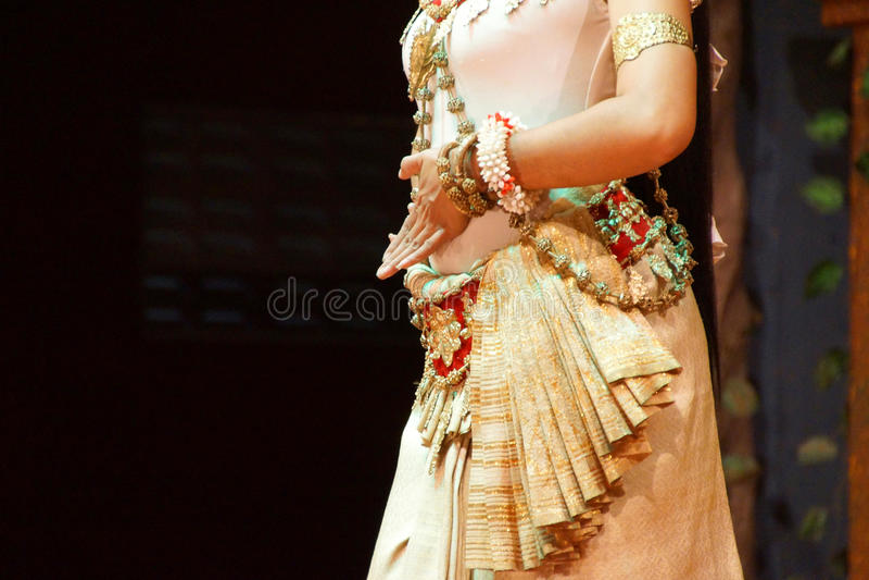 Bailarín de Apsara imagen de archivo libre de regalías