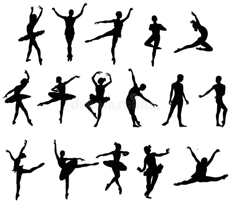 Bailarín de ballet libre illustration