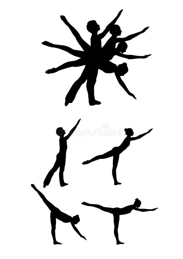 Bailarín de ballet ilustración del vector