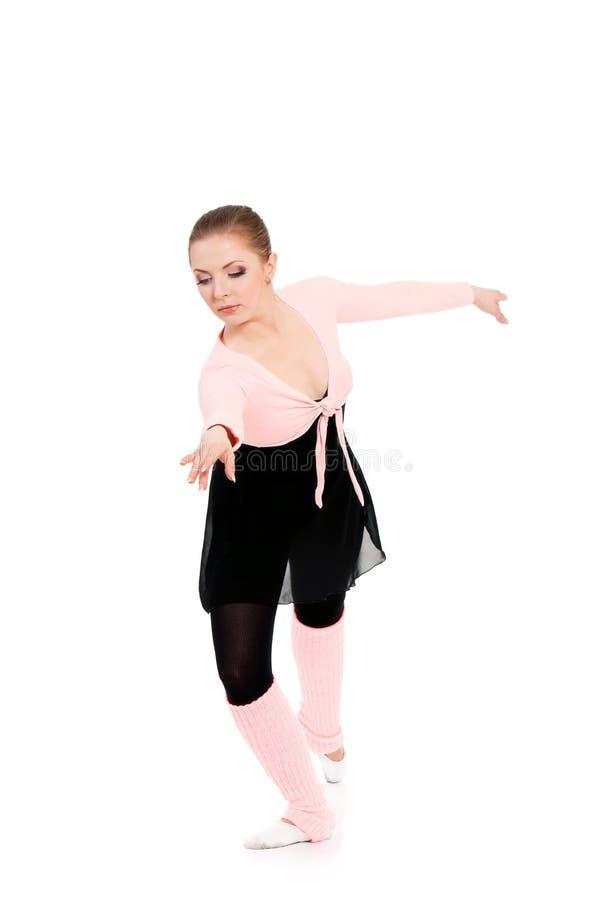 Bailarín de ballet de la bailarina de la mujer fotografía de archivo libre de regalías