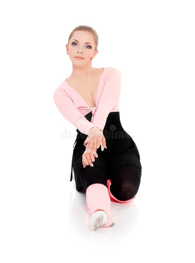 Bailarín de ballet de la bailarina de la mujer imagenes de archivo