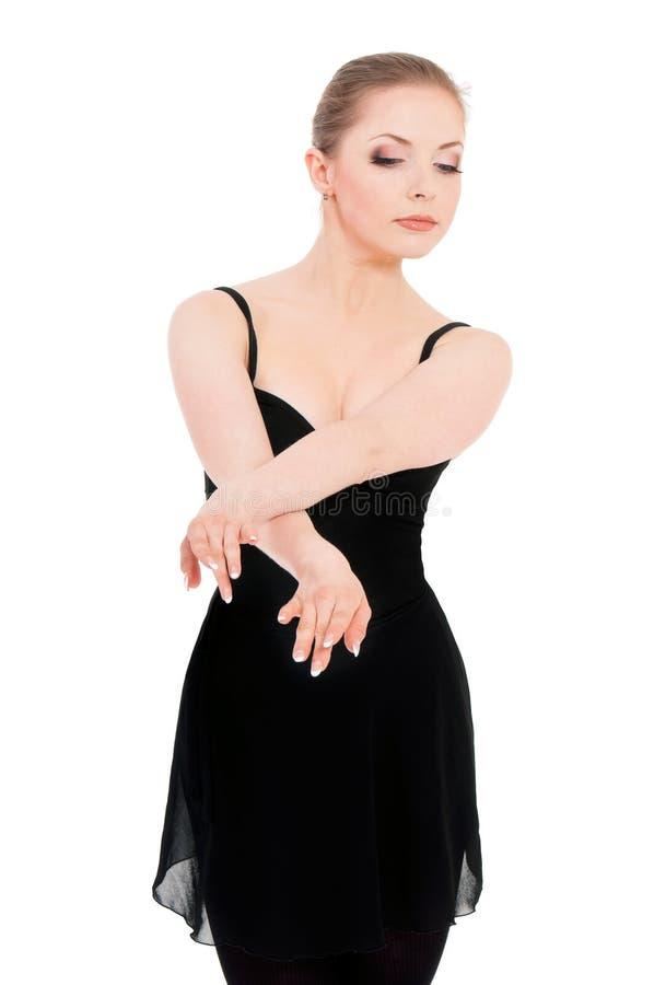Bailarín de ballet de la bailarina de la mujer imagen de archivo libre de regalías