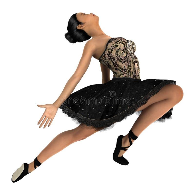 Bailarín de ballet de sexo femenino asiático libre illustration