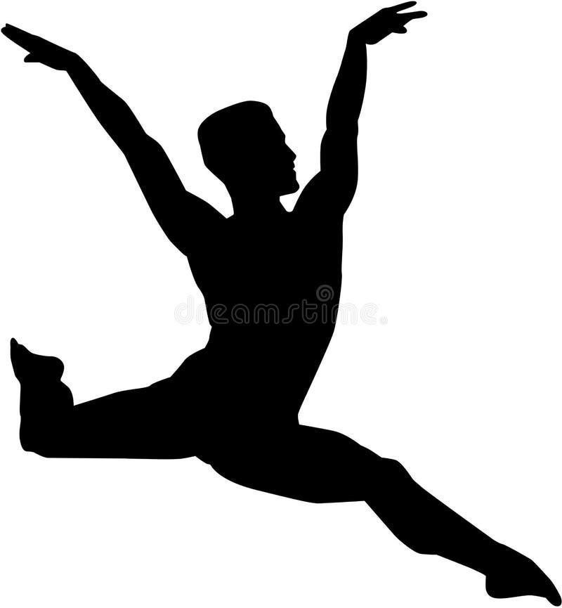 Bailarín de ballet de sexo masculino libre illustration
