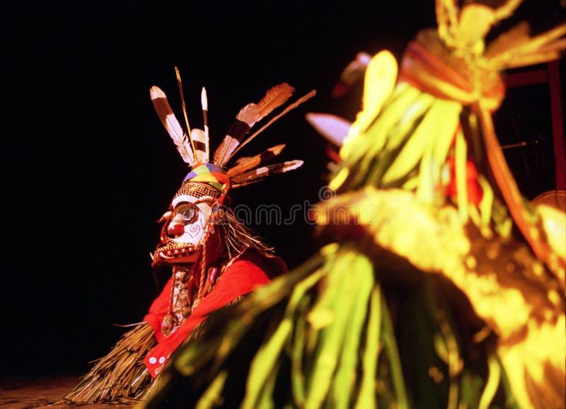 Bailarín de Enggang del Dayak imagenes de archivo