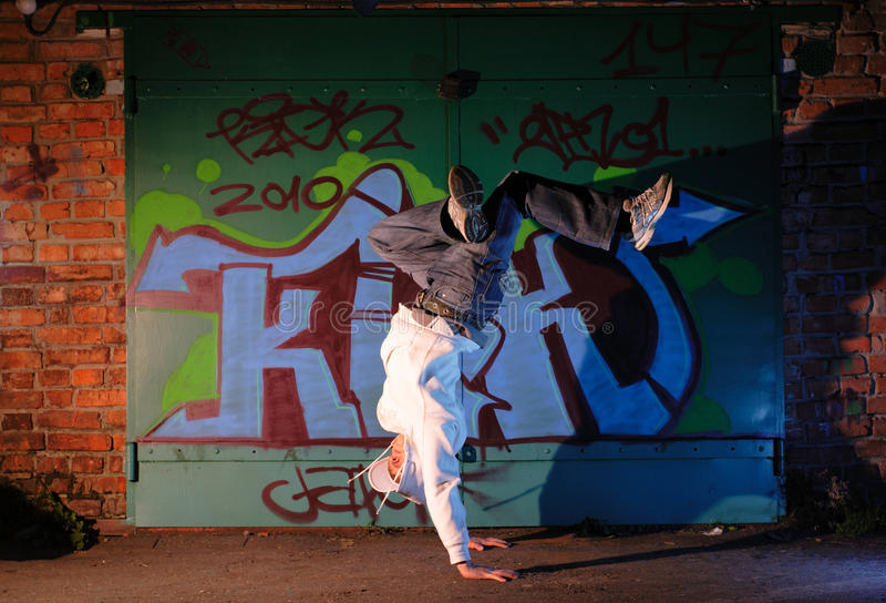 Bailarín de Hip-hop foto de archivo