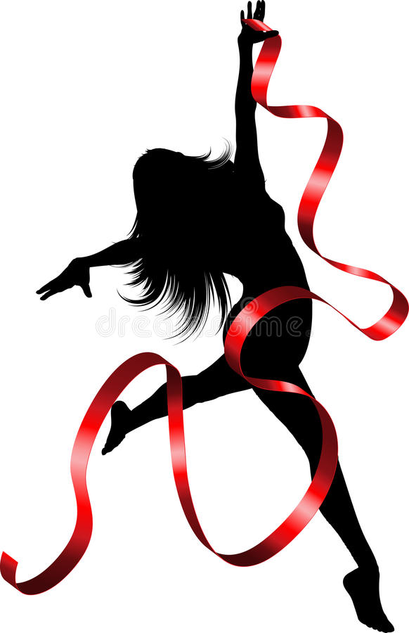 Bailarín de la cinta libre illustration