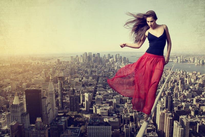 Bailarín de la cuerda fotografía de archivo libre de regalías