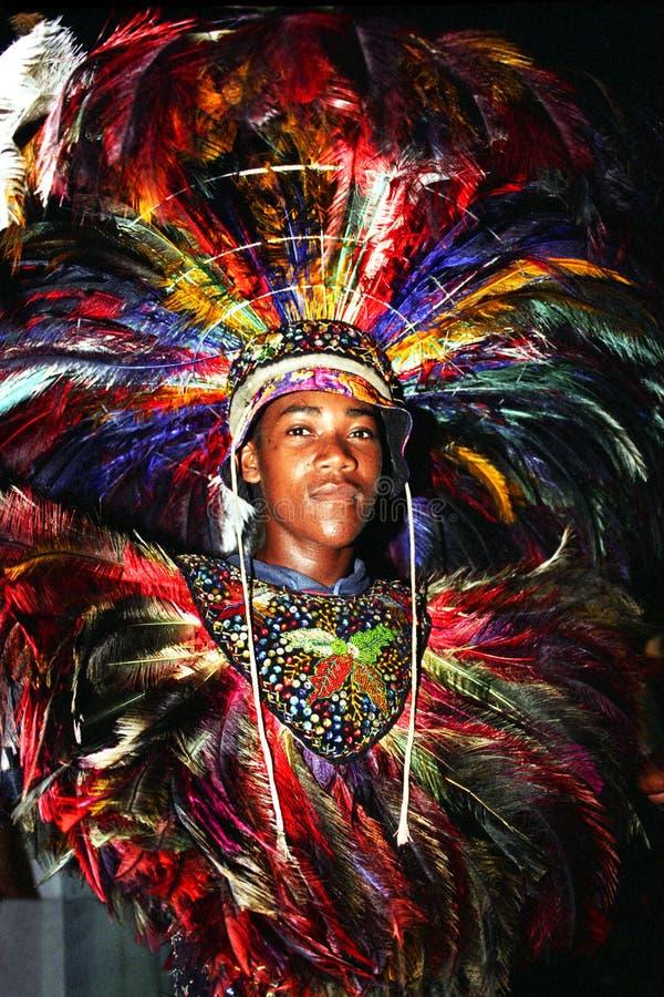 Bailarín de la danza popular brasileña fotos de archivo