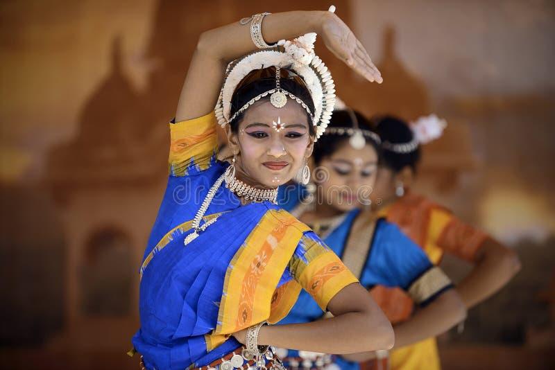 Bailarín de la India foto de archivo