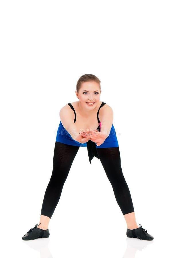 Bailarín de la mujer joven fotos de archivo