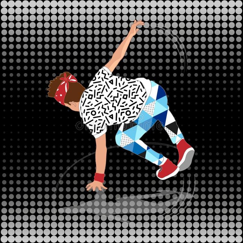 bailarín de la rotura de la calle del estilo 80s y 90s libre illustration
