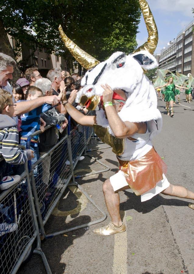 Bailarín de Minotaur de la escuela de Londres de la samba foto de archivo libre de regalías
