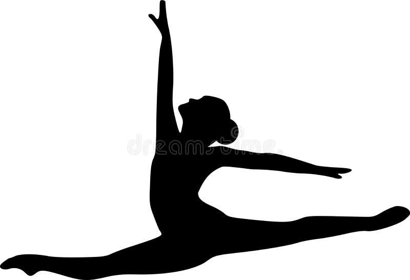Bailarín de salto del ballet stock de ilustración