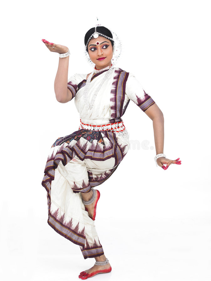 Bailarín de sexo femenino clásico indio fotografía de archivo libre de regalías