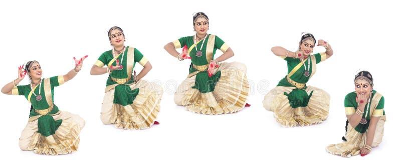 Bailarín de sexo femenino tradicional indio imágenes de archivo libres de regalías