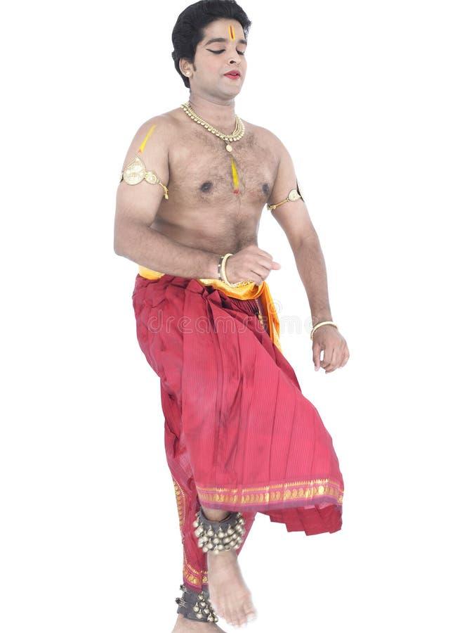 Bailarín de sexo masculino clásico indio fotos de archivo libres de regalías
