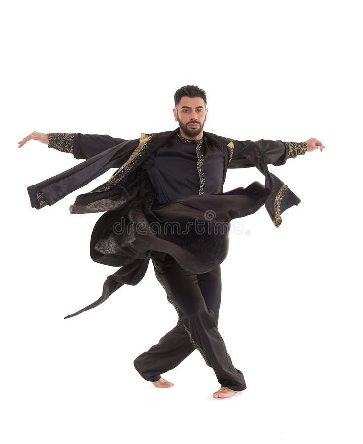 Bailarín de sexo masculino en traje oriental fotos de archivo libres de regalías