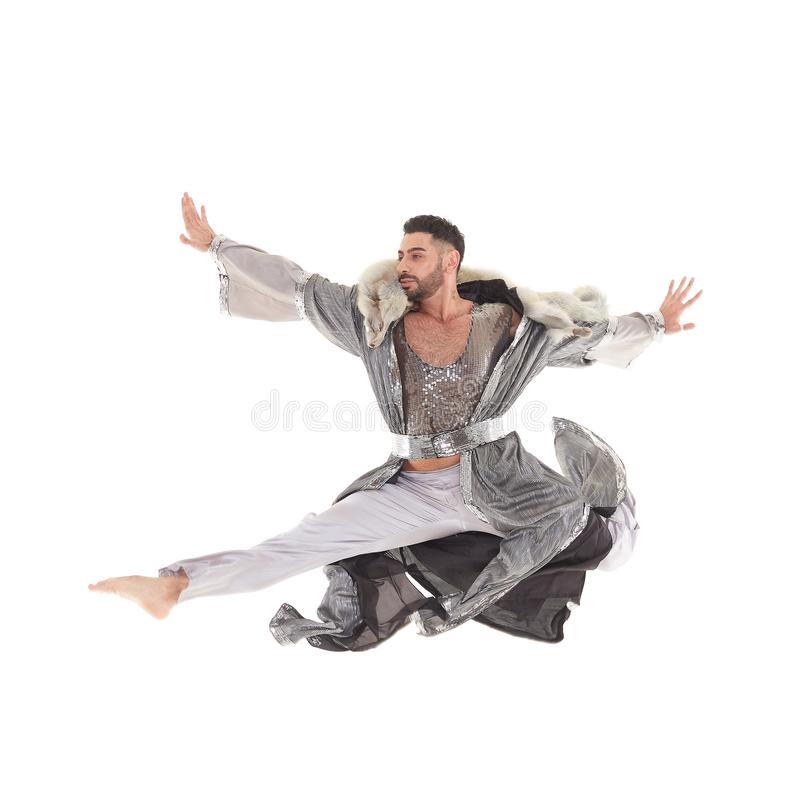 Bailarín de sexo masculino en traje oriental imagen de archivo libre de regalías