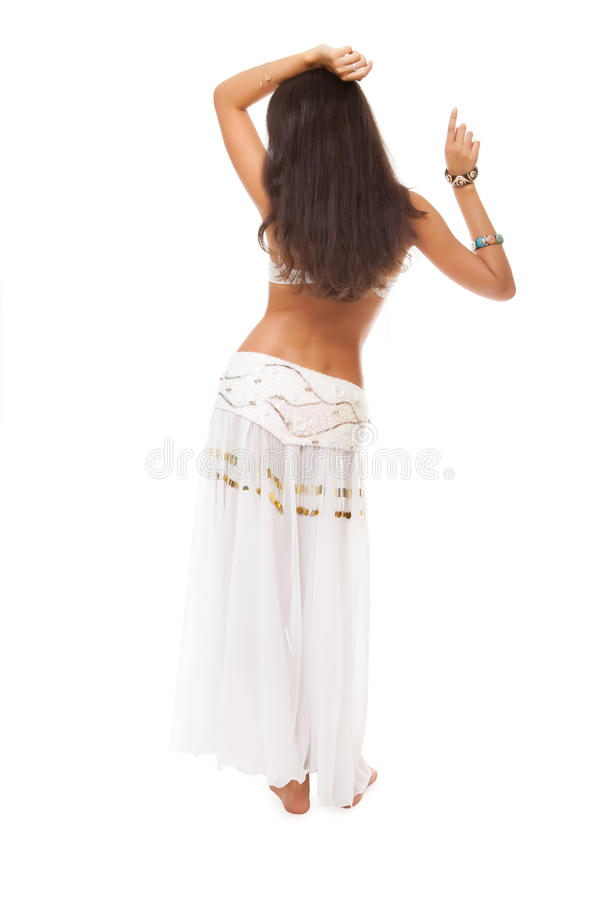 Bailarín de vientre de la parte posterior imagen de archivo