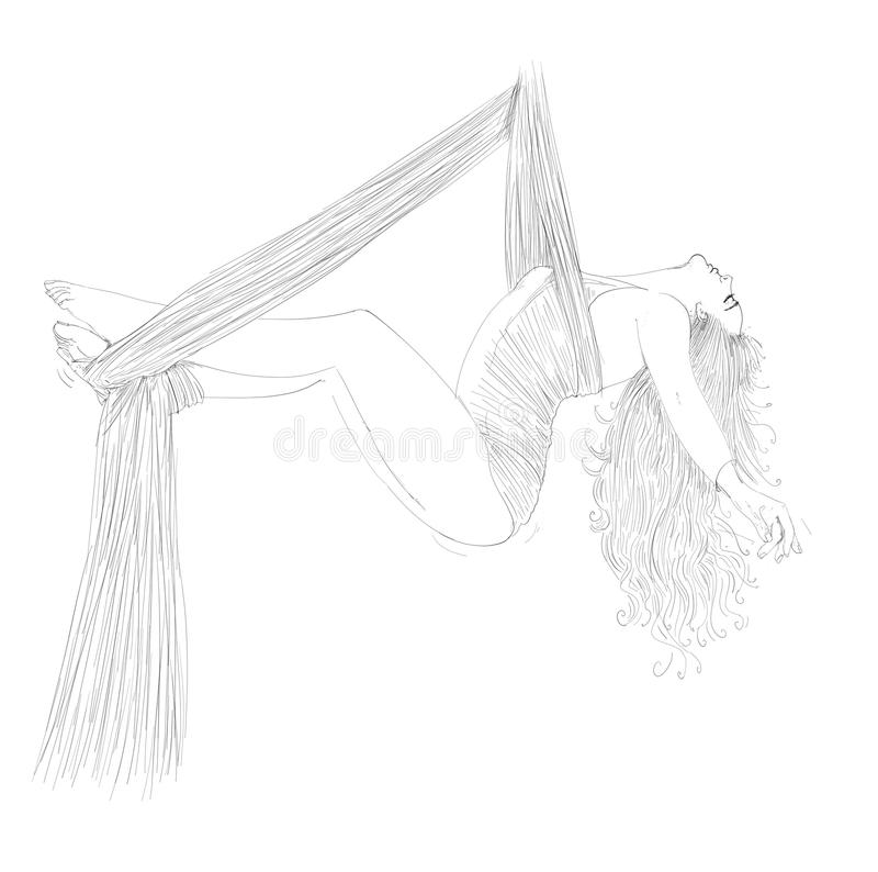 Bailarín del acróbata stock de ilustración